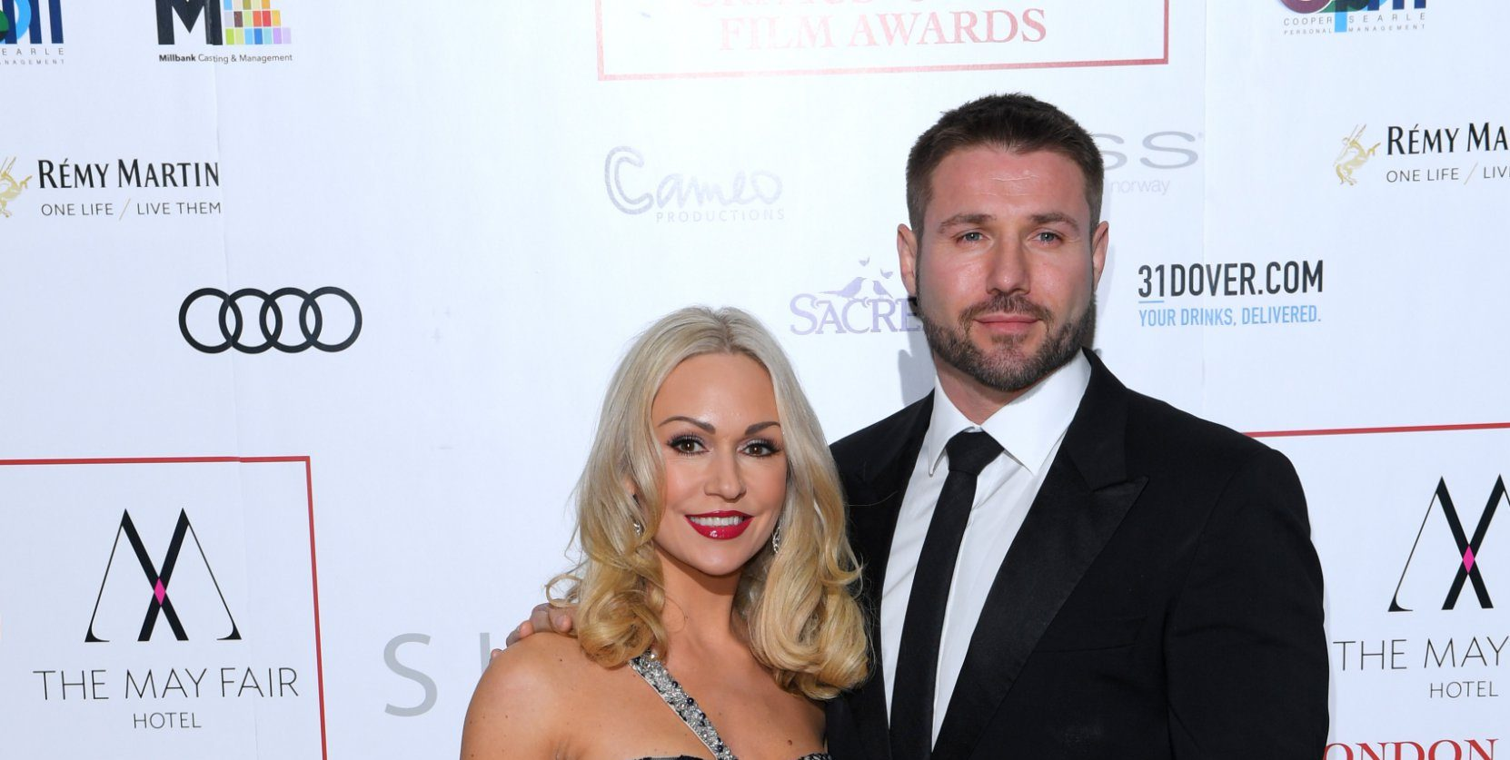 Mandatory Credit: Photo by David Fisher/REX/Shutterstock (7946109cm) Kristina Rihanoff and Ben Cohen The London Critics' Circle Film Awards, UK - 22 Jan 2017