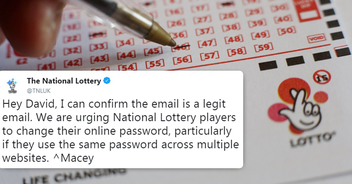 National Lottery urges customers to change passwords as hackers access accounts
