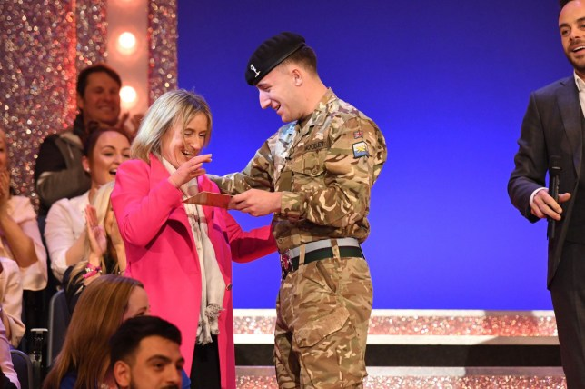 Editorial Use Only. No merchandising Mandatory Credit: Photo by Kieron McCarron/REX/Shutterstock (9469464bc) Anthony McPartlin and audience members 'Ant & Dec's Saturday Night Takeaway' TV Show, Series 15, Episode 4, London, UK - 17 Mar 2018