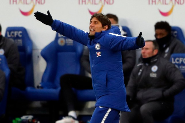 Antonio Conte during Chelsea's FA Cup tie with Leicester