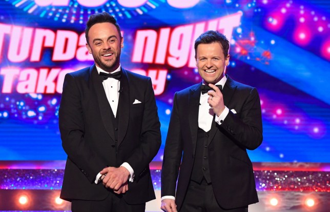 Editorial Use Only - No Merchandising Mandatory Credit: Photo by ITV/REX/Shutterstock (9447979ak) Anthony McPartlin and Declan Donnelly 'Ant & Dec's Saturday Night Takeaway' TV Show, Series 15, Episode 2, London, UK - 03 Mar 2018