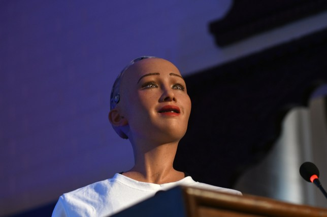 Robot Sophia addresses tech conference on her own in Nepal | Metro News