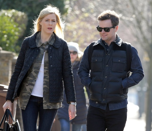 Declan Donnelly leaves home with his wife Ali Astall. The TV presenter is said to be 'devastated' after his co-host Ant McPartlin's 'drink drive' crash. Featuring: Ali Astall, Declan Donnelly, Dec Where: London, United Kingdom When: 21 Mar 2018 Credit: WENN.com