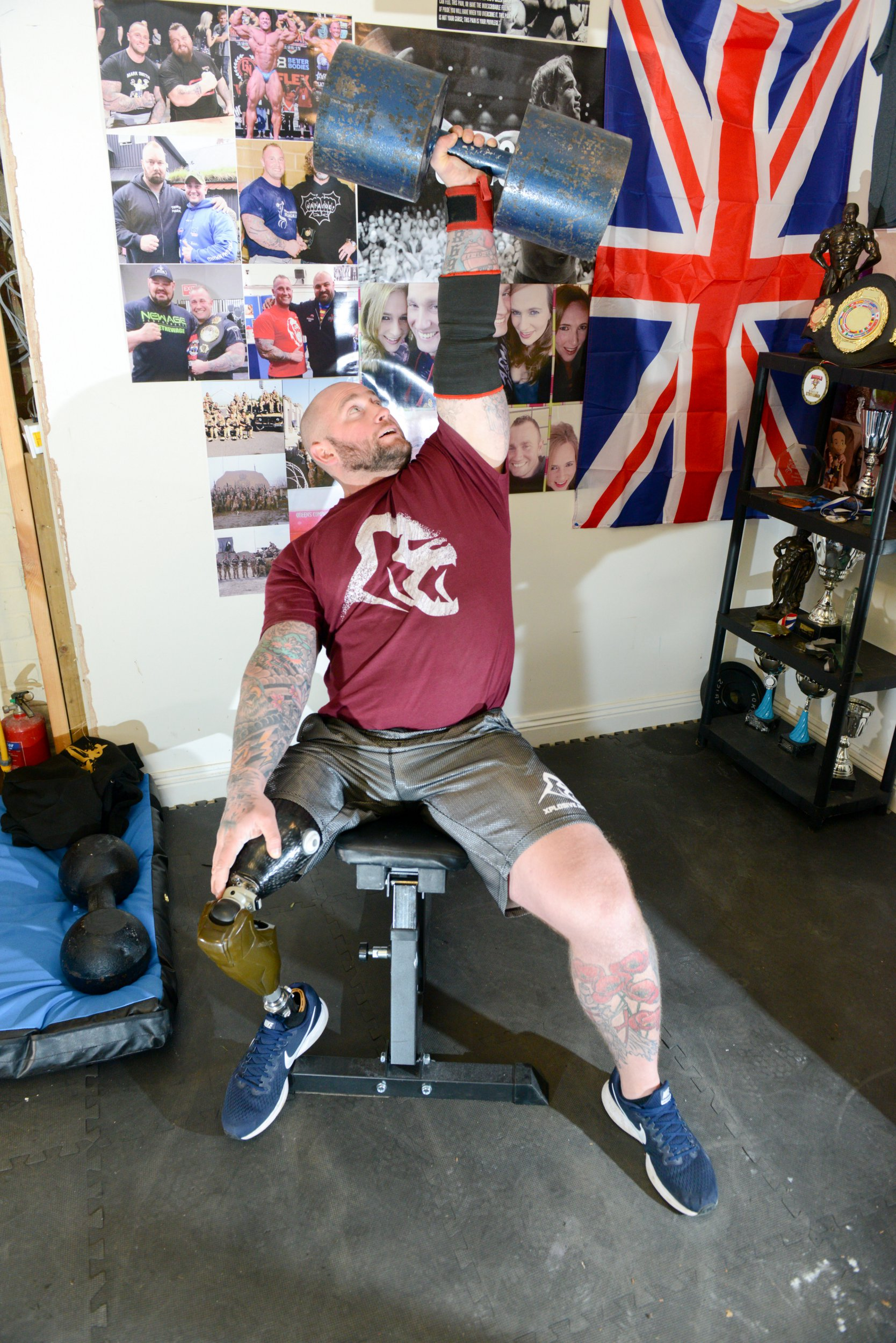 Ex sergeant who lost leg in the army training for world s