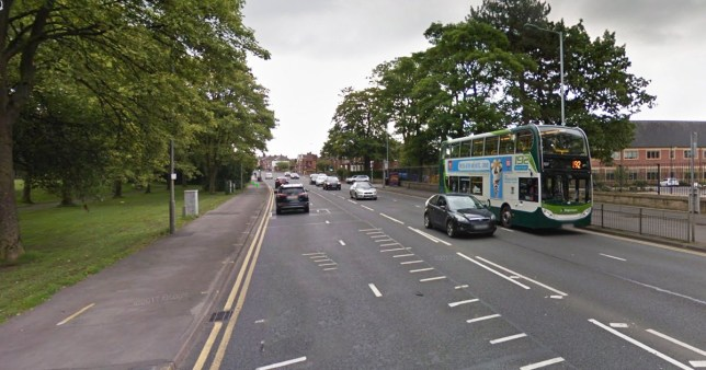 Van spills pies on to the road causing delays Picture: Buxton Road/Woodsmoor lane Credit: Google
