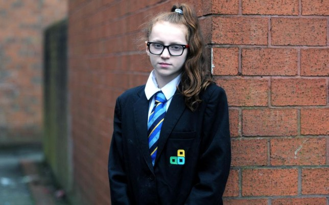 12-year-old Paris Lane. See Ross Parry story RPYGINGER; A TEACHER allegedly told a red haired pupil to dye her hair because 'orange is not a natural colour'. Her furious mother has now complained to staff at Kearsley Academy, Bolton about the comment to 12-year-old Paris Lane. The alleged incident happened on Tuesday last week as the school continues its uniform crackdown, which some parents have called excessive. Paris Lane, who lives with her family, including mother, Nic, aged 31, in Westwood Close, Farnworth, is a natural redhead. But she says she had been walking down a corridor near to the maths department when a teacher caught her attention and told her to return her hair to a 'natural colour'.