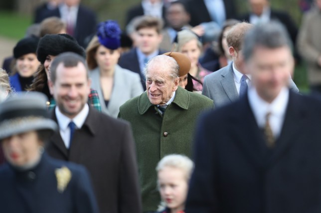 KING'S LYNN, ENGLAND - DECEMBER 25: Prince Philip; Duke of Edinburgh attends Christmas Day Church service at Church of St Mary Magdalene on December 25, 2017 in King's Lynn, England. (Photo by Chris Jackson/Getty Images)