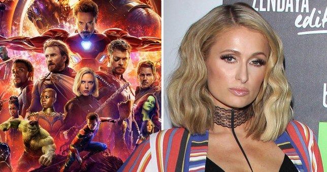 Paris Hilton shares her take on the Infinity War crossover