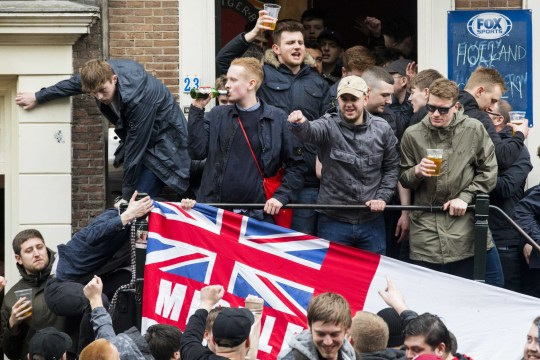 90 England fans arrested in Amsterdam