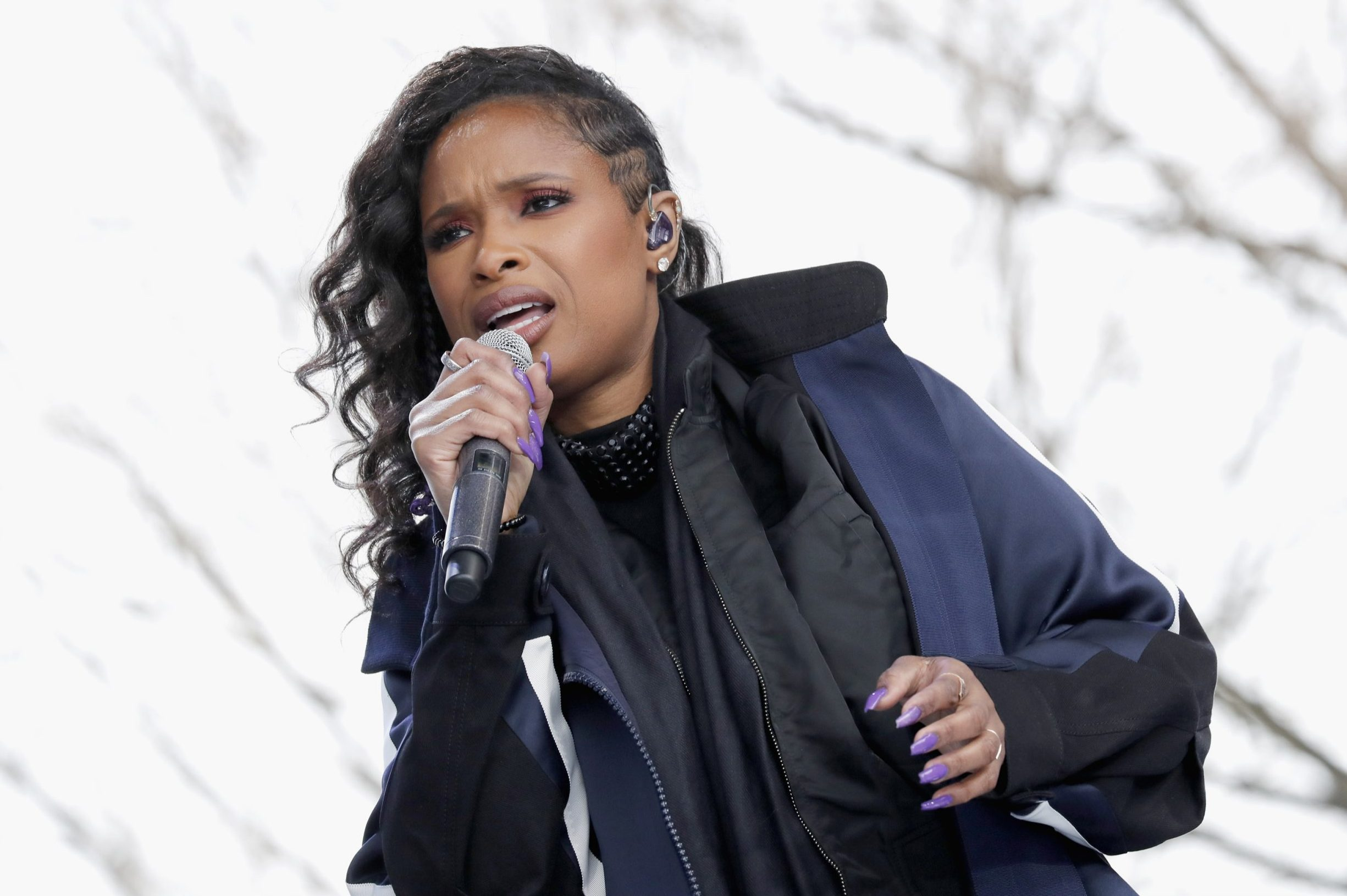 WASHINGTON, DC - MARCH 24: Jennifer Hudson performs onstage at March For Our Lives on March 24, 2018 in Washington, DC. (Photo by Paul Morigi/Getty Images for March For Our Lives)