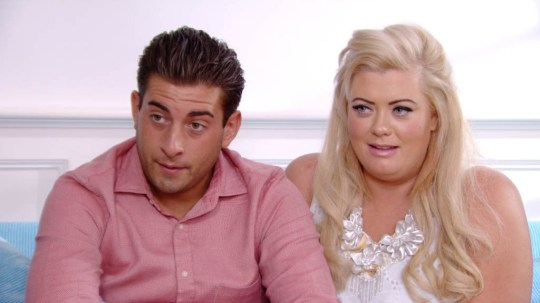 EDITORIAL USE ONLY / NO MERCHANDISING Mandatory Credit: Photo by ITV/REX/Shutterstock (1850668fs) James Argent [Arg] and Gemma Collins pop around Gemma's mum 'The Only Way is Essex' Series 6, TV Programme - 2012