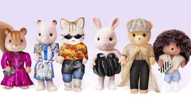 Sylvanians get a makeover METRO GRAB taken from: https://www.lyst.co.uk/articles/the-sylvanians-2018-high-fashion-makeover/ Credit: Sylvanian Families