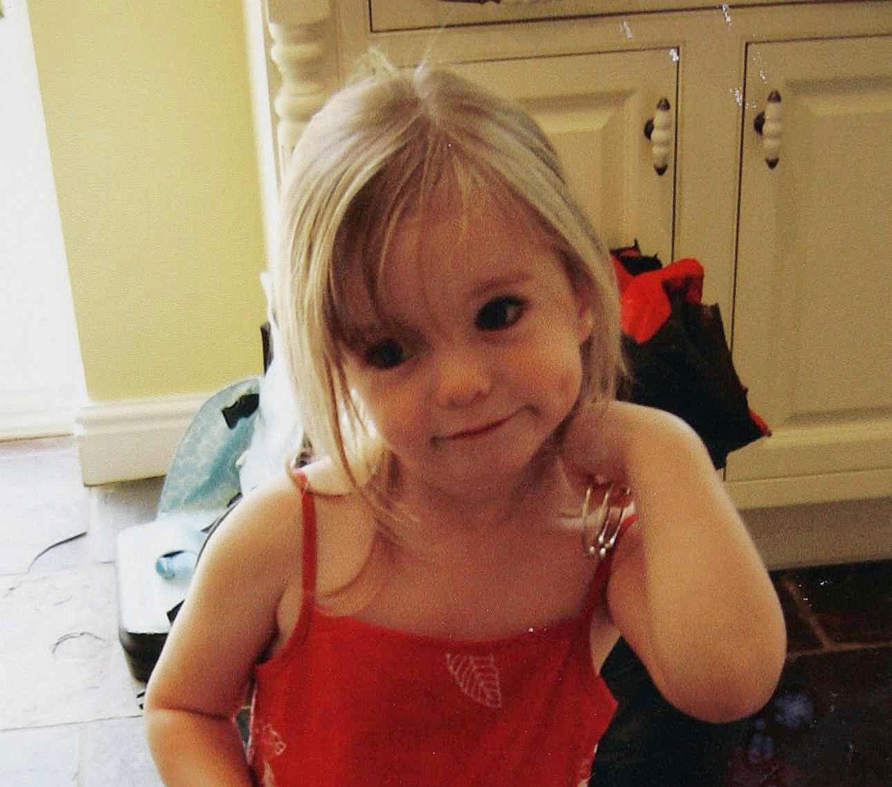 Undated family handout of missing three-year-old Madeleine McCann.