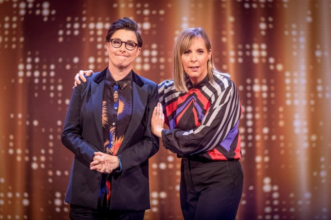 WARNING: Embargoed for publication until 00:00:01 on 27/03/2018 - Programme Name: The Generation Game 2018 - TX: n/a - Episode: n/a (No. 1) - Picture Shows: Sue Perkins, Mel Giedroyc - (C) BBC - Photographer: Guy Levy