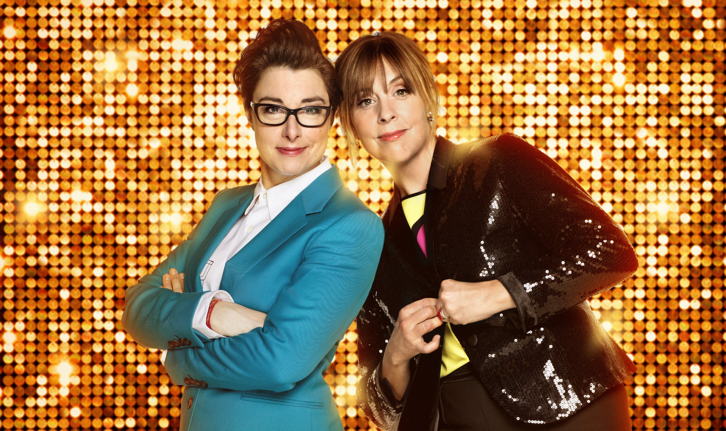 WARNING: Embargoed for publication until 00:00:01 on 27/03/2018 - Programme Name: The Generation Game 2018 - TX: n/a - Episode: n/a (No. 1) - Picture Shows: Sue Perkins, Mel Giedroyc - (C) BBC - Photographer: David Venni