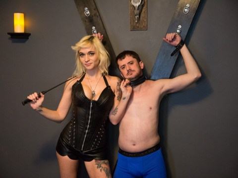 Dominatrix lives with slaves who cook her food and buy her groceries so she'll whip them