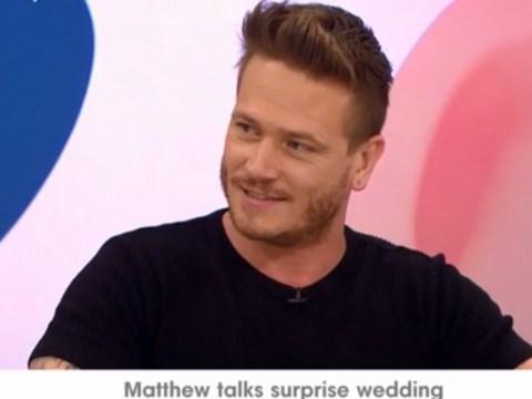 Emmerdale's Matthew Wolfenden reveals details about his surprise wedding with Charley Webb