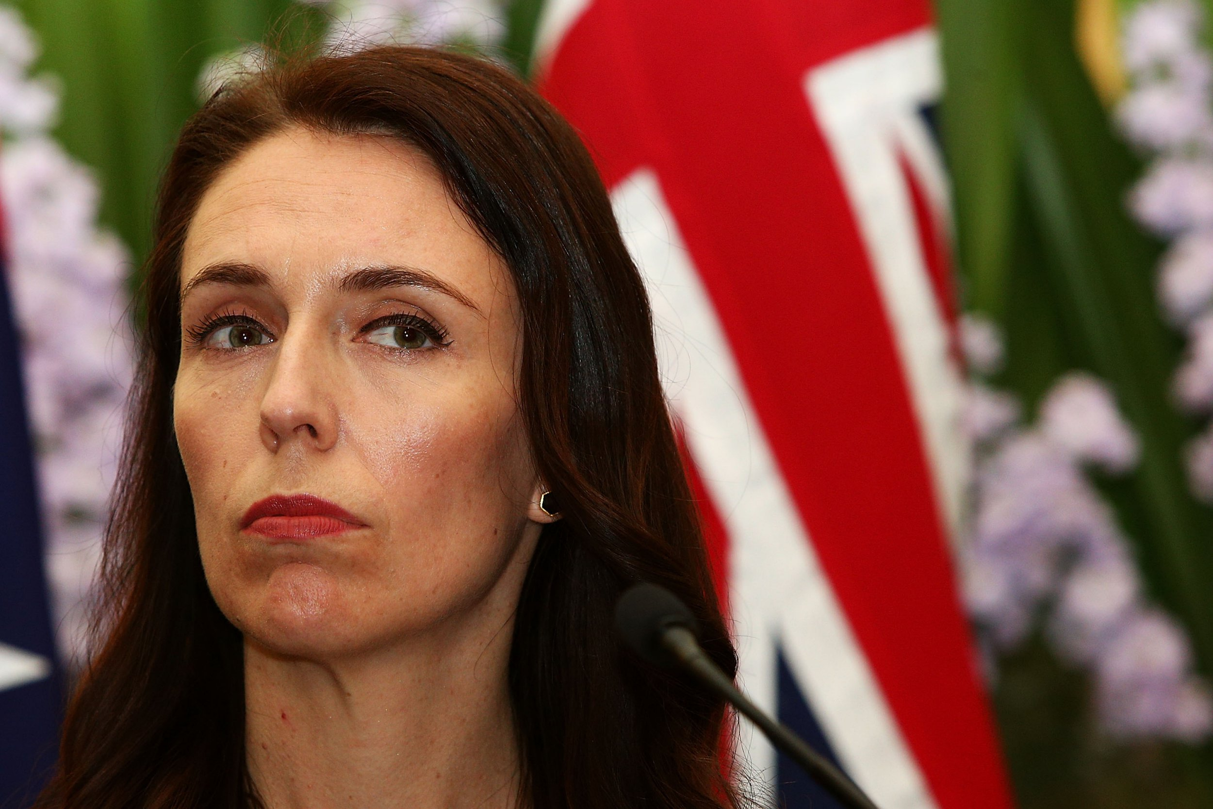 SYDNEY, AUSTRALIA - NOVEMBER 05: New Zealand Prime Minister Jacinda Ardern attends a press conference at Kirribilli House on November 5, 2017 in Sydney, Australia. The new New Zealand Prime Minister is on a one-day visit to Australia. (Photo by Lisa Maree Williams/Getty Images)