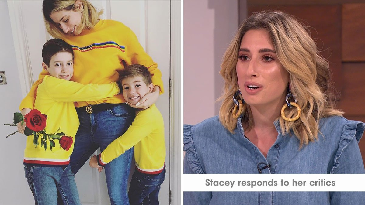 Stacey Solomon hits back at trolls who said she was 'too stupid and dumb' to home school her two boys