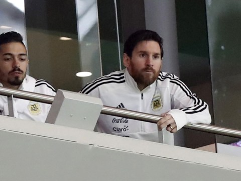 Lionel Messi spoke to Argentina's players in dressing room during Spain defeat