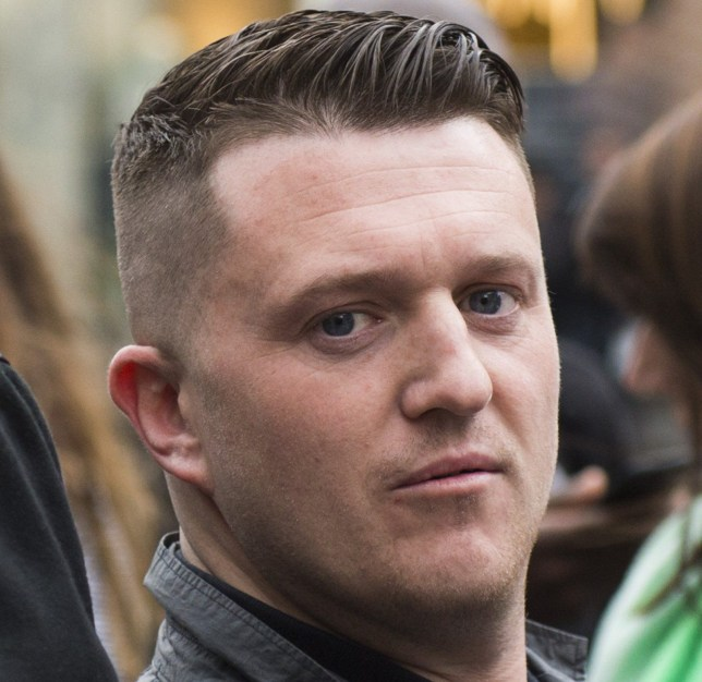 Tommy Robinson during a demonstration by Britain First and EDL (English Defence League) protesters in London.