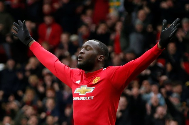 "Soccer Football - Premier League - Manchester United vs Swansea City - Old Trafford, Manchester, Britain - March 31, 2018 Manchester United's Romelu Lukaku celebrates scoring their first goal REUTERS/Andrew Yates EDITORIAL USE ONLY. No use with unauthorized audio, video, data, fixture lists, club/league logos or ""live"" services. Online in-match use limited to 75 images, no video emulation. No use in betting, games or single club/league/player publications. Please contact your account representative for further details."