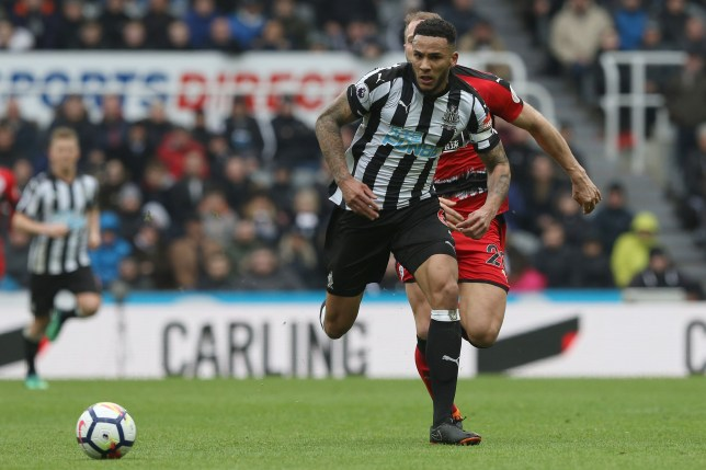 Jamaal Lascelles of Newcastle during the Premier League match at St. James's Park, Newcastle Picture by Robert Smith/Focus Images Ltd 07837 882029 31/03/2018