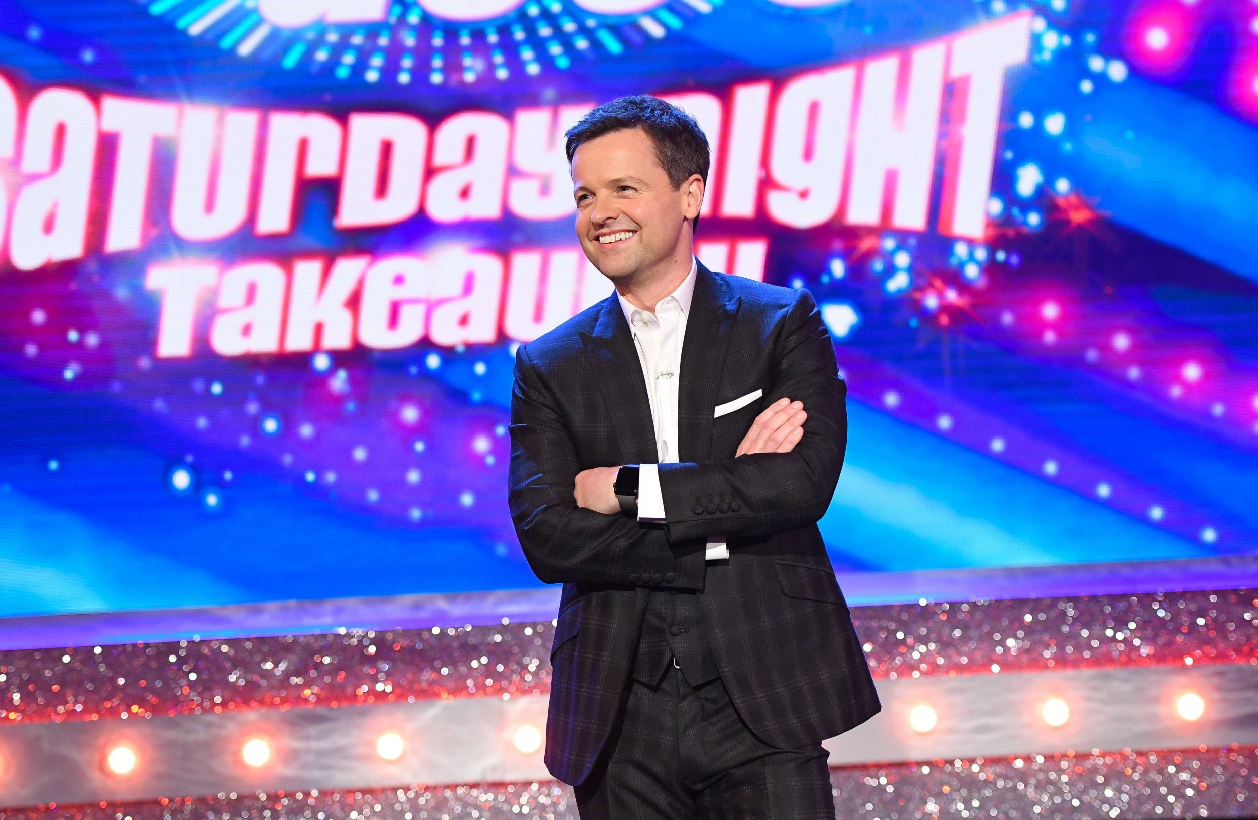 Editorial Use Only. No merchandising Mandatory Credit: Photo by Kieron McCarron/REX/Shutterstock (9485884c) Declan Donnelly Ant & Dec's Saturday Night Takeaway' TV Show, Series 15, Episode 6, London, UK - 31 Mar 2018