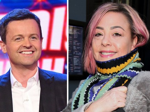 Lisa Armstrong shows support for Declan Donnelly as he presents Saturday Night Takeaway without Ant McPartlin
