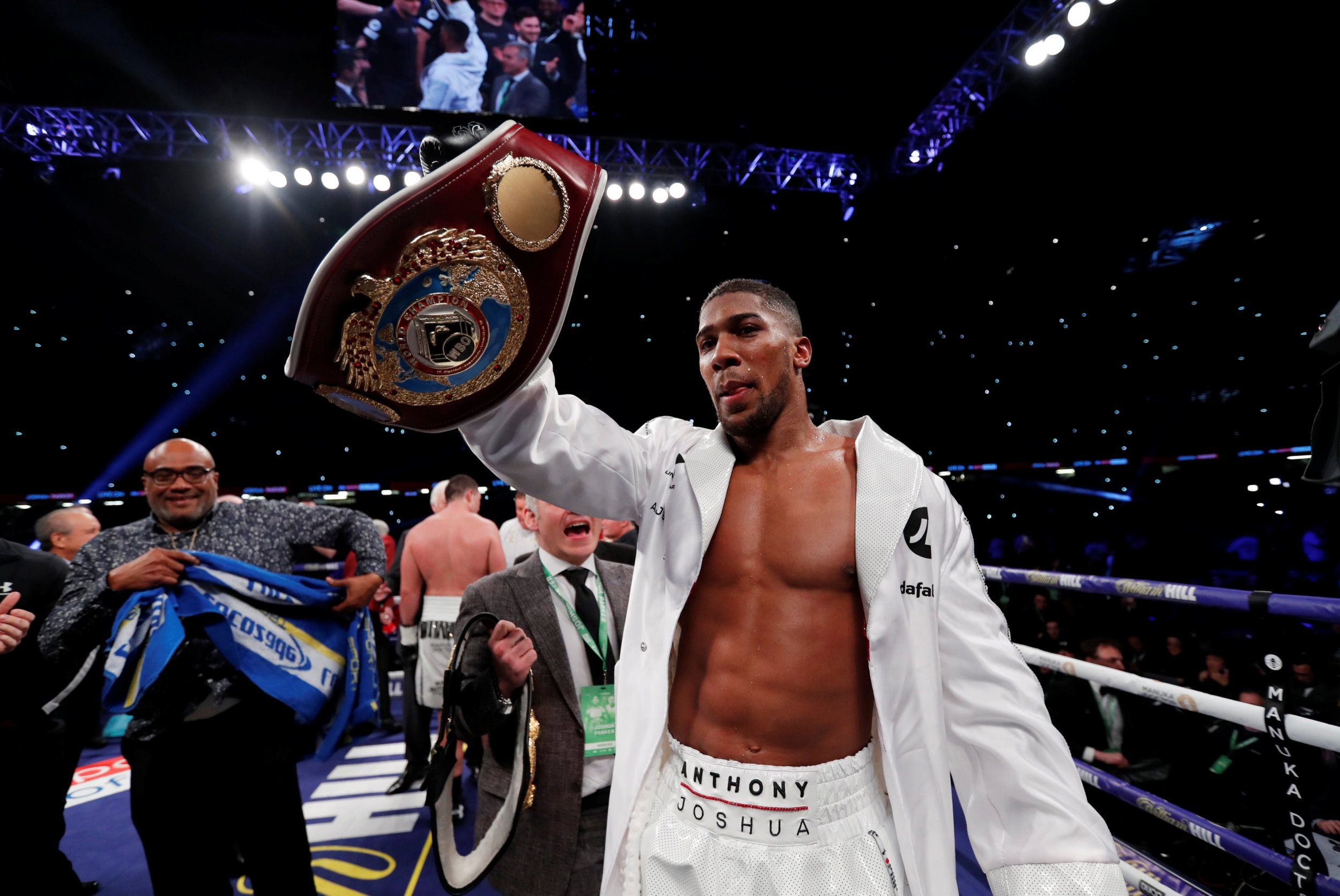 Anthony Joshua stakes claim for position of undisputed heavyweight king by beating Joseph Parker