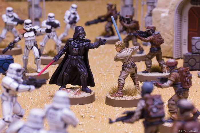 Star Wars Legion - father and son conflict in miniature