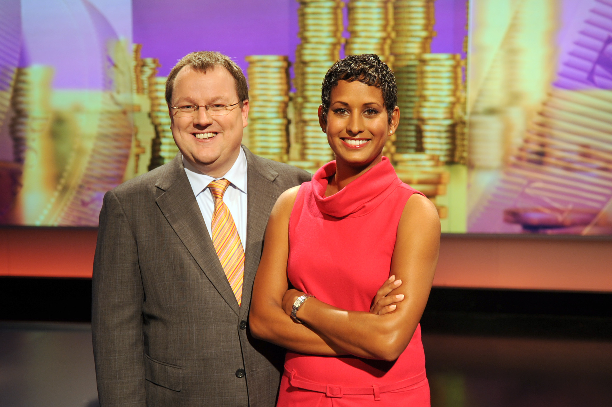Declan Curry and bbc presenter naga munchetty