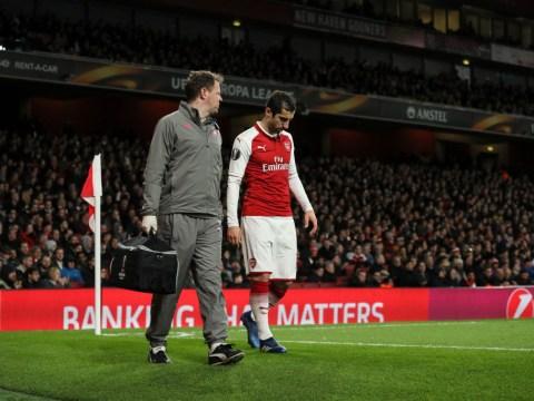 Henrikh Mkhitaryan ruled out of Southampton clash with knee injury, Arsenal boss Arsene Wenger confirms