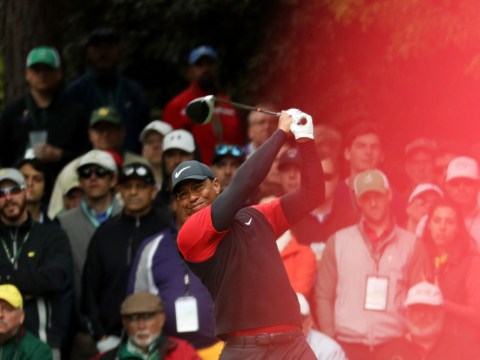 Watch Tiger Woods make stunning eagle at Augusta before rating his performance at The Masters