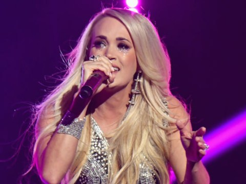 Carrie Underwood breaks down during emotional performance of Cry Pretty as she returns to CMAs