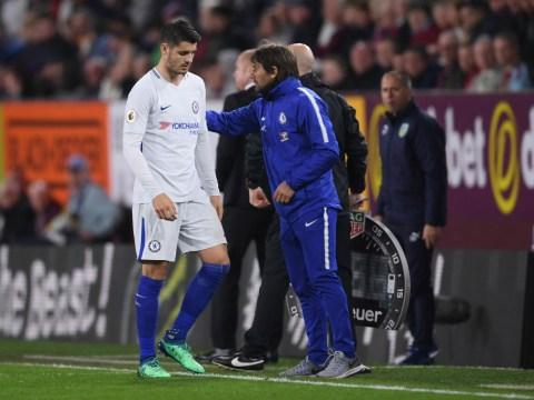 Antonio Conte explains why 'angry' Alvaro Morata was subbed off against Burnley