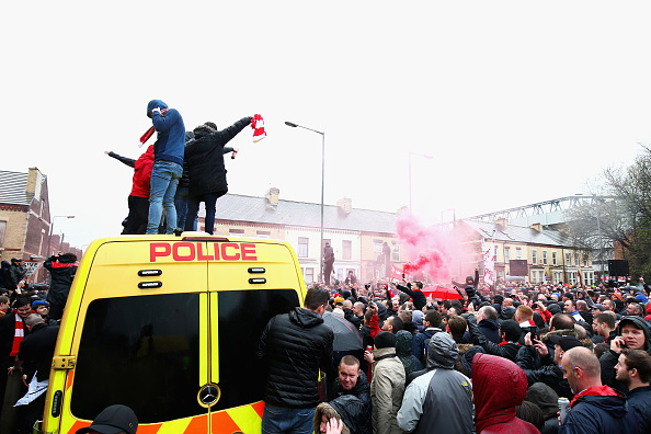 Liverpool FC 'shocked and appalled' after clashes outside Anfield leave fan in critical condition