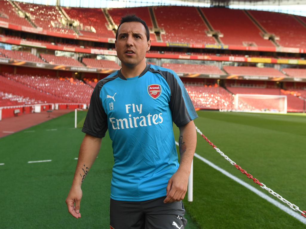 Santi Cazorla hoping to be back in first-team training with Arsenal in two weeks