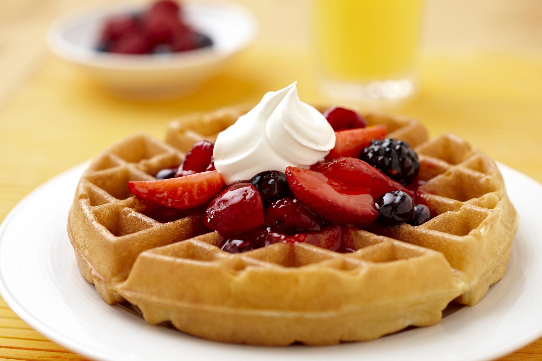 Waffle recipe self raising flour uk