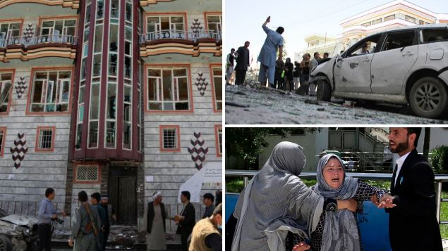 Suicide bomber kills at least 31 people at voter centre in Afghanistan