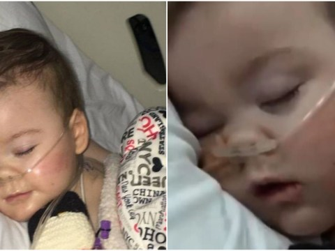 Alfie Evans' mum strokes his face during bedside vigil at Alder Hey hospital