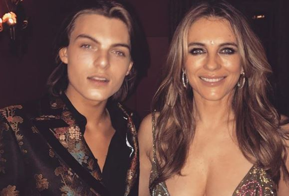 Liz Hurley steals all the focus from her son Damian at his 16th birthday party