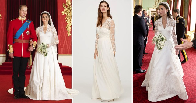 H&M Is Selling a Replica of Kate Middleton's Wedding Dress for a Very Affordable Price!
