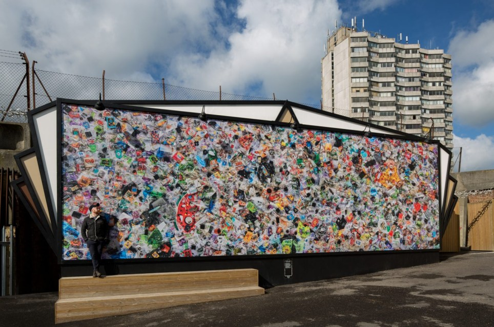 Everyday Plastic mural at Dreamland Margate