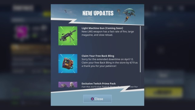 Fortnite LMG: Stats and release date for new light machine