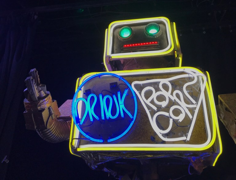 The Robot Restaurant in Shinjuku isn't cheap - buy tickets online in advance - but it's something else (Picture: Yvette Caster)