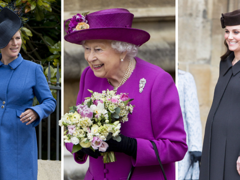 Kate Middleton and Zara Phillips show off baby bumps as the royals celebrate Easter