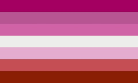 Is there a lesbian flag and what other LGBT+ symbols are