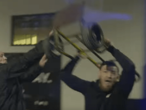 On-board footage shows the shocking moment Conor McGregor smashed UFC bus window