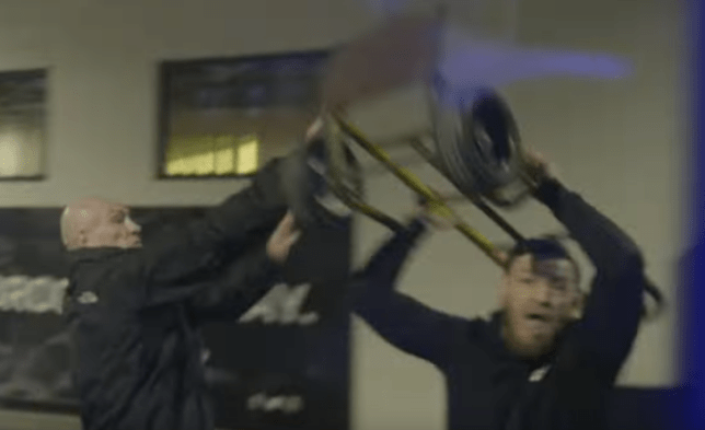 bf80c87306f On-board footage shows the shocking moment Conor McGregor smashed UFC bus  window